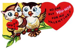 vintage valentine clip art, retro valentine card, printable valentine, old fashioned owl valentine