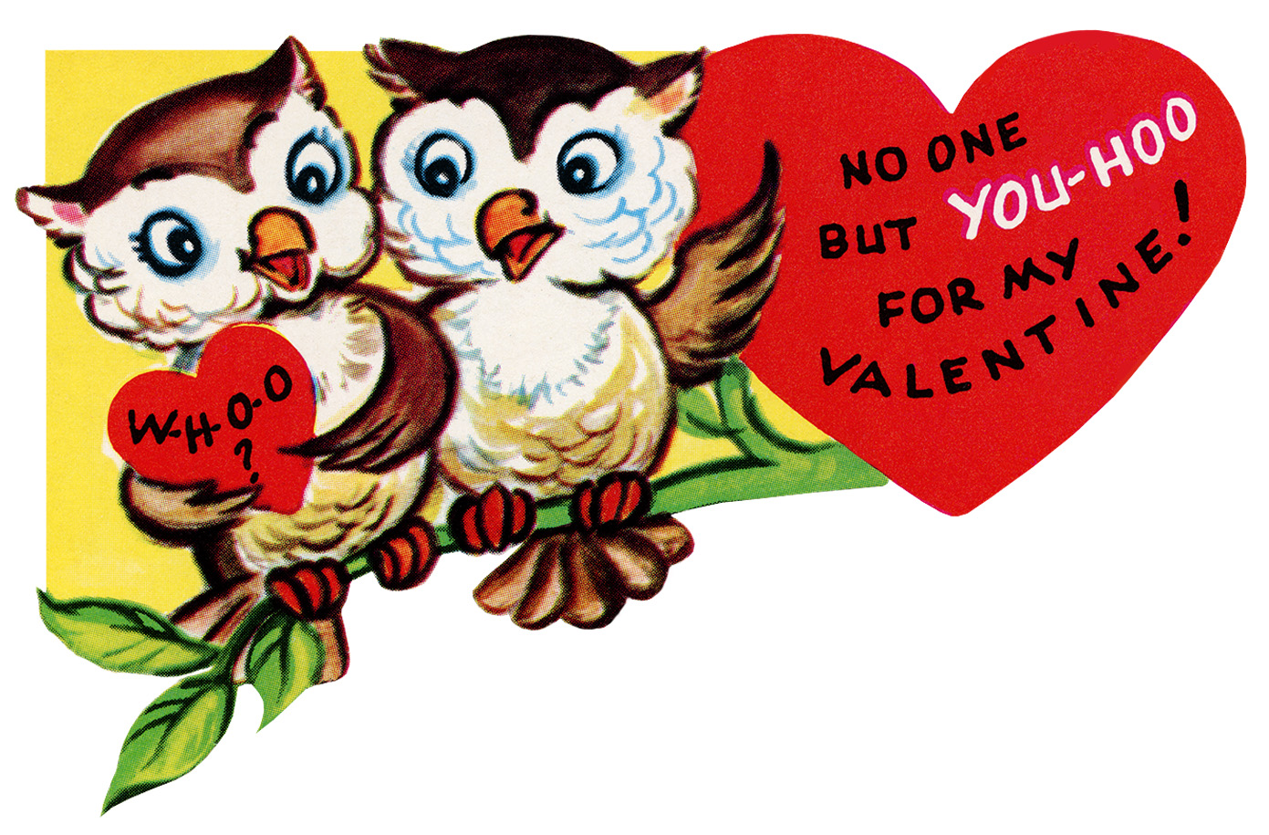 picture relating to Valentine Clip Art Free Printable referred to as Valentine Owls upon a Department ~ No cost Common Clip Artwork - Outdated