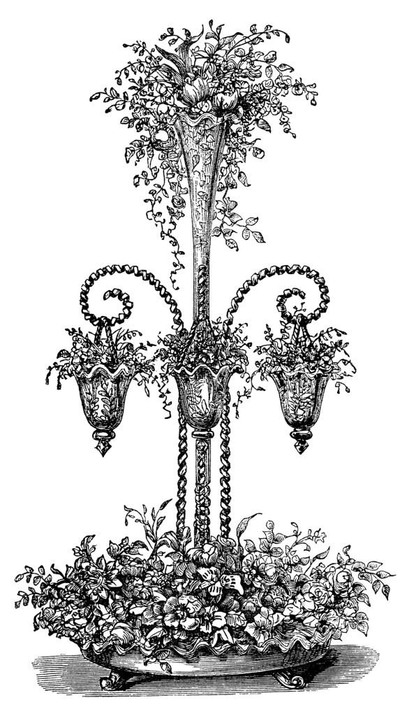 Beautiful Flower Arrangements Free Vintage Clip Art