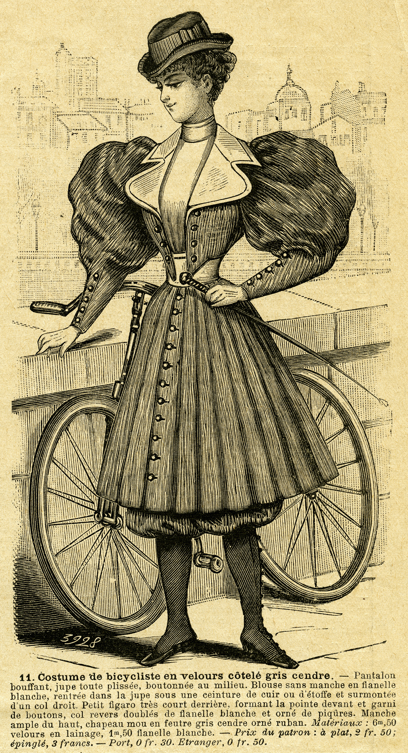 Vintage French Bicycle Outfit For Ladies Free Magazine