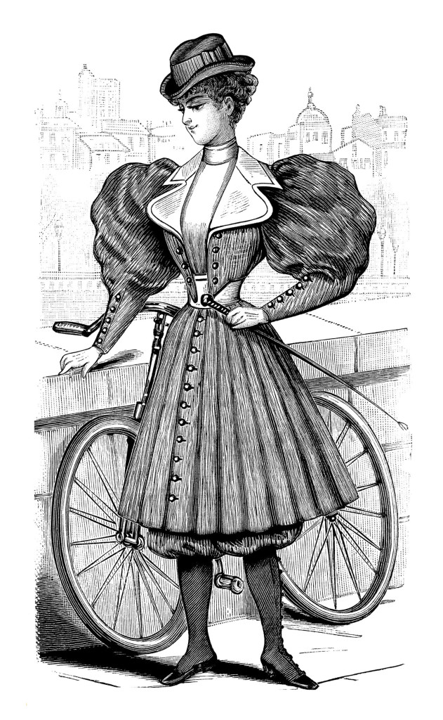 vintage french bicycle outfit for ladies   free magazine birthday clip art for women from group birthday clip art for women capricorn