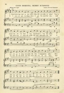 vintage sheet music, digital download, music page, old book page, sunshine song, arthur edward johnstone