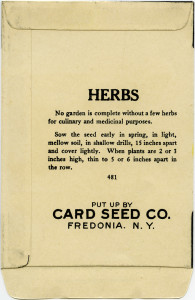 free vintage clip art garden seed packet herbs dill card seed co