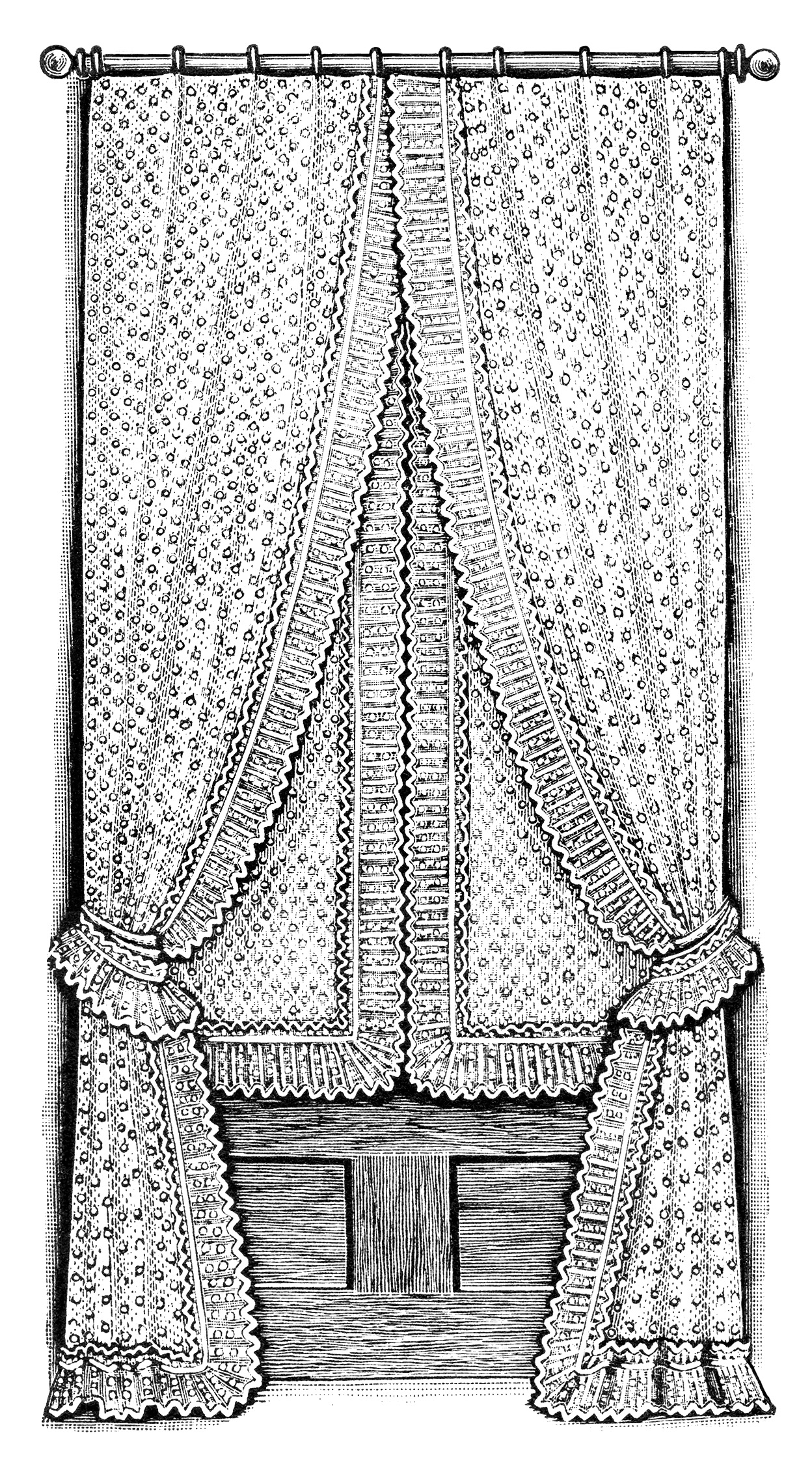 Antique Window Curtains ~ Free Clip Art | Old Design Shop Blog for Window Clipart Black And White  70ref