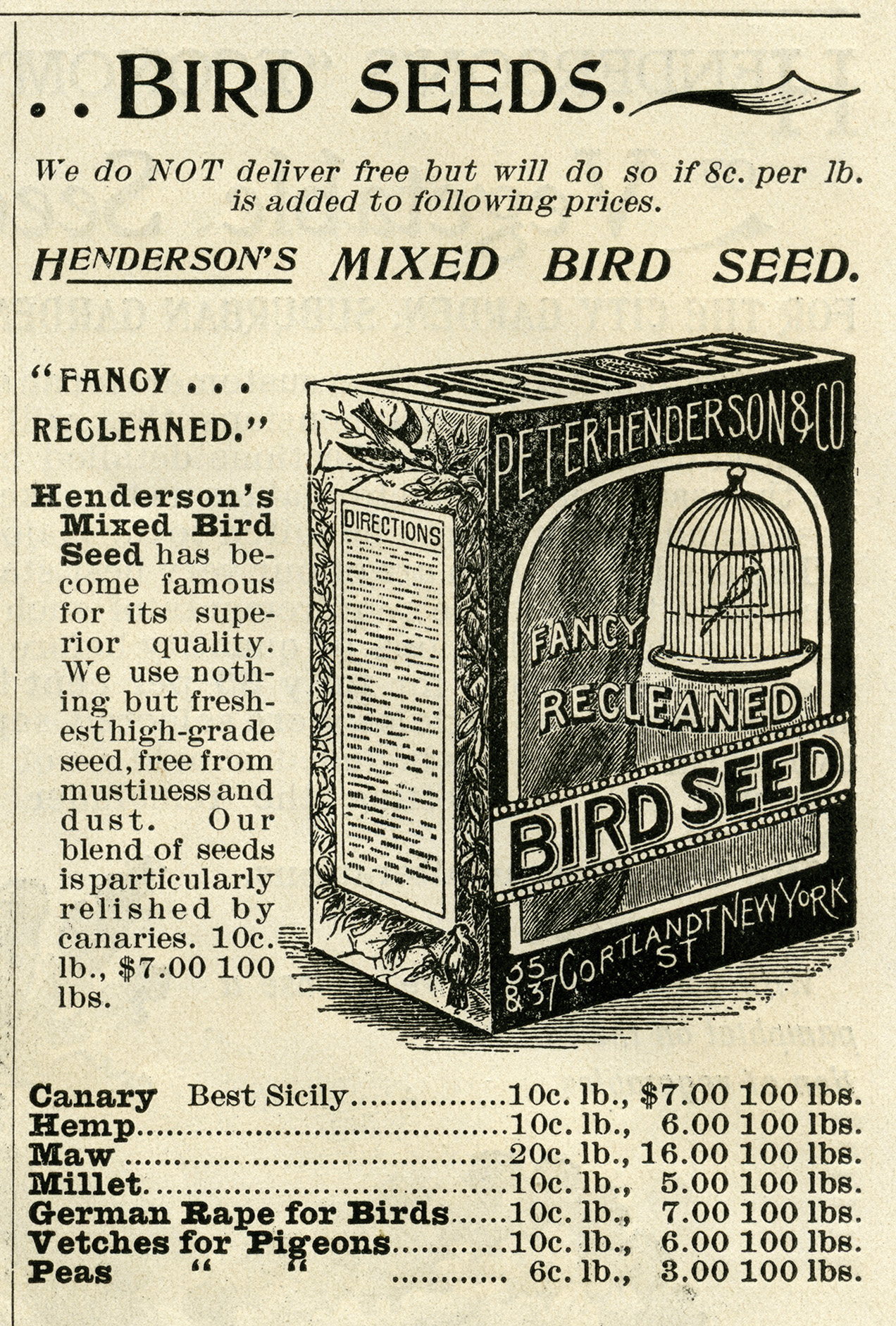 Bird Seed Ad And Clip Art Free Vintage Graphics Old