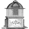 vintage birdcage clipart, black and white clip art, printable bird cage, antique cage for bird, birdcage image