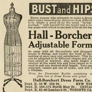 Free vintage dress form printable clip art magazine ad