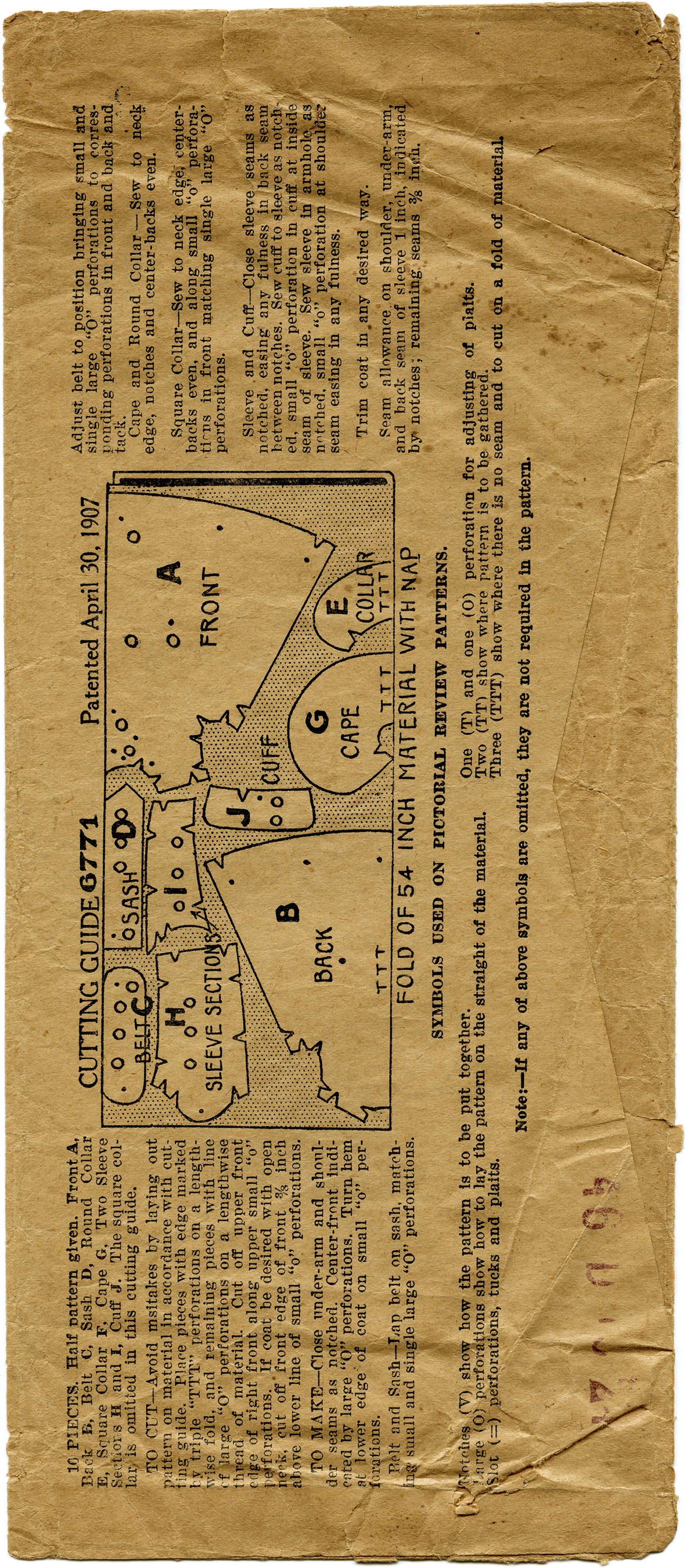 how to read a sewing pattern envelope