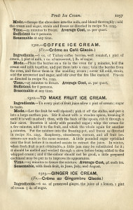 homemade ice cream recipe, vintage ice cream, Mrs Beeton, shabby cookbook page, old fashioned ice cream, free vintage ephemera