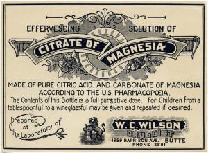 old poison label, citrate of magnesia, vintage pharmacy label, free vintage ephemera, antique medicine
