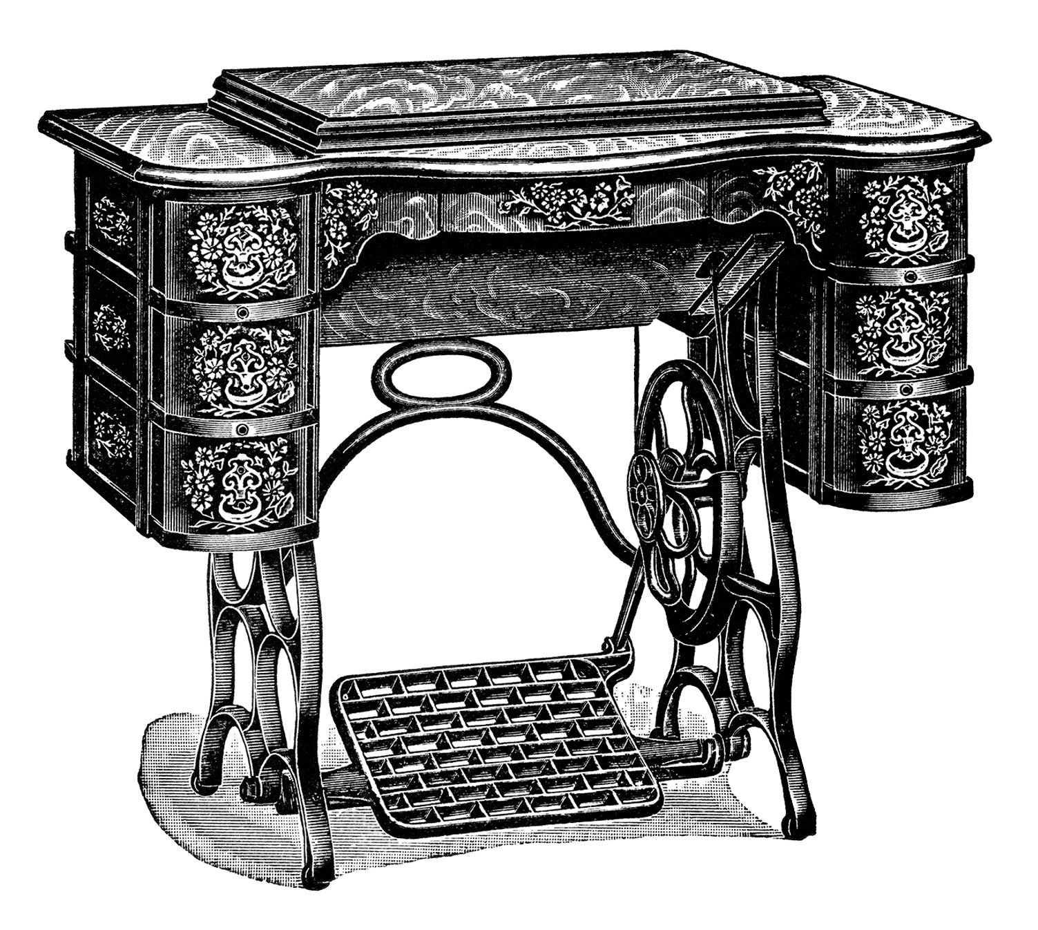 Free Vintage Treadle Sewing Machine Images - Old Design ...