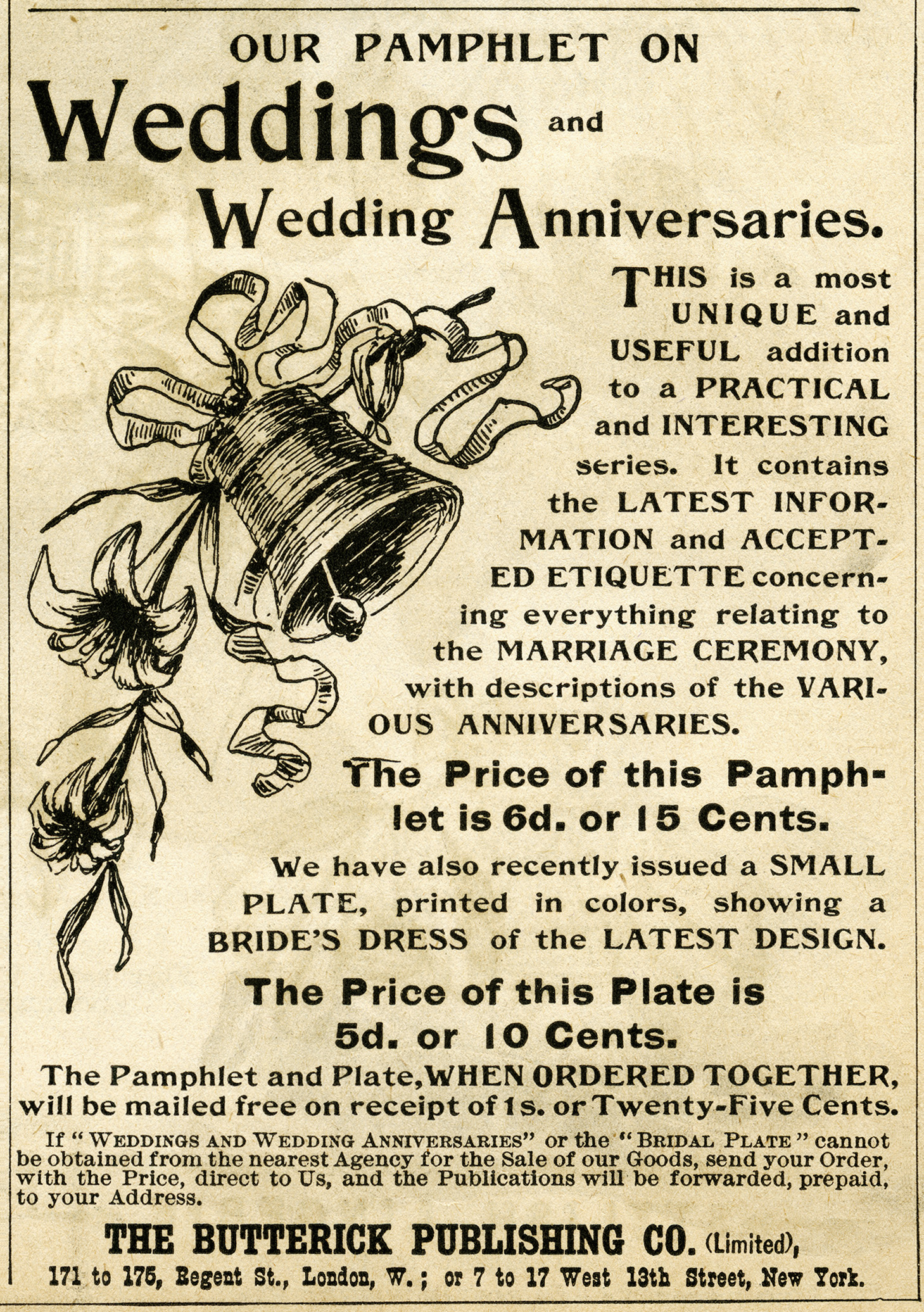 Black And White Clip Art Vintage Wedding Clipart Antique Magazine Ad Bell