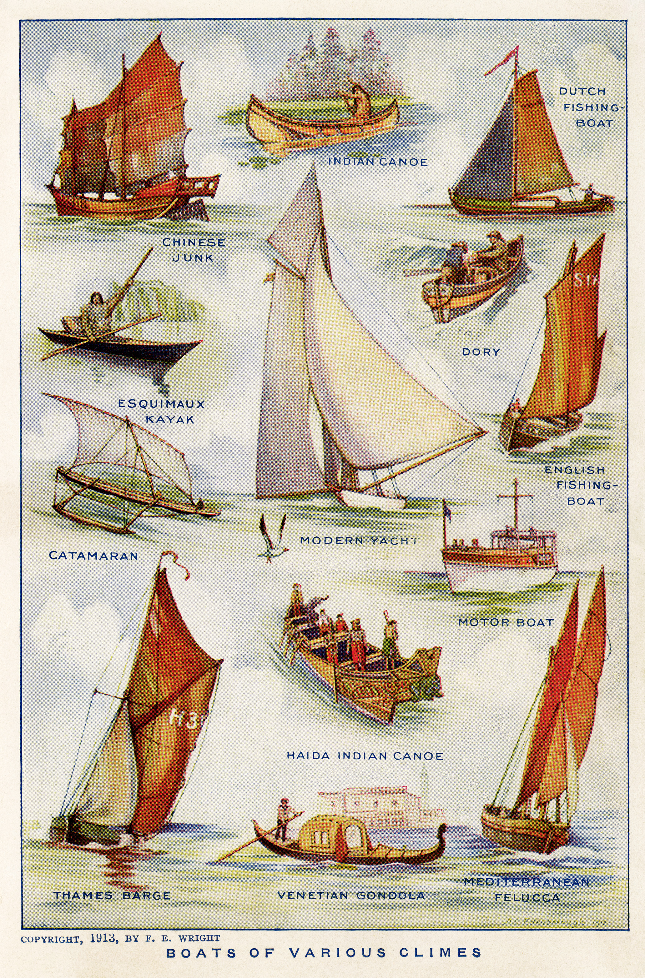 Boats of Various Climes ~ Free Vintage Image