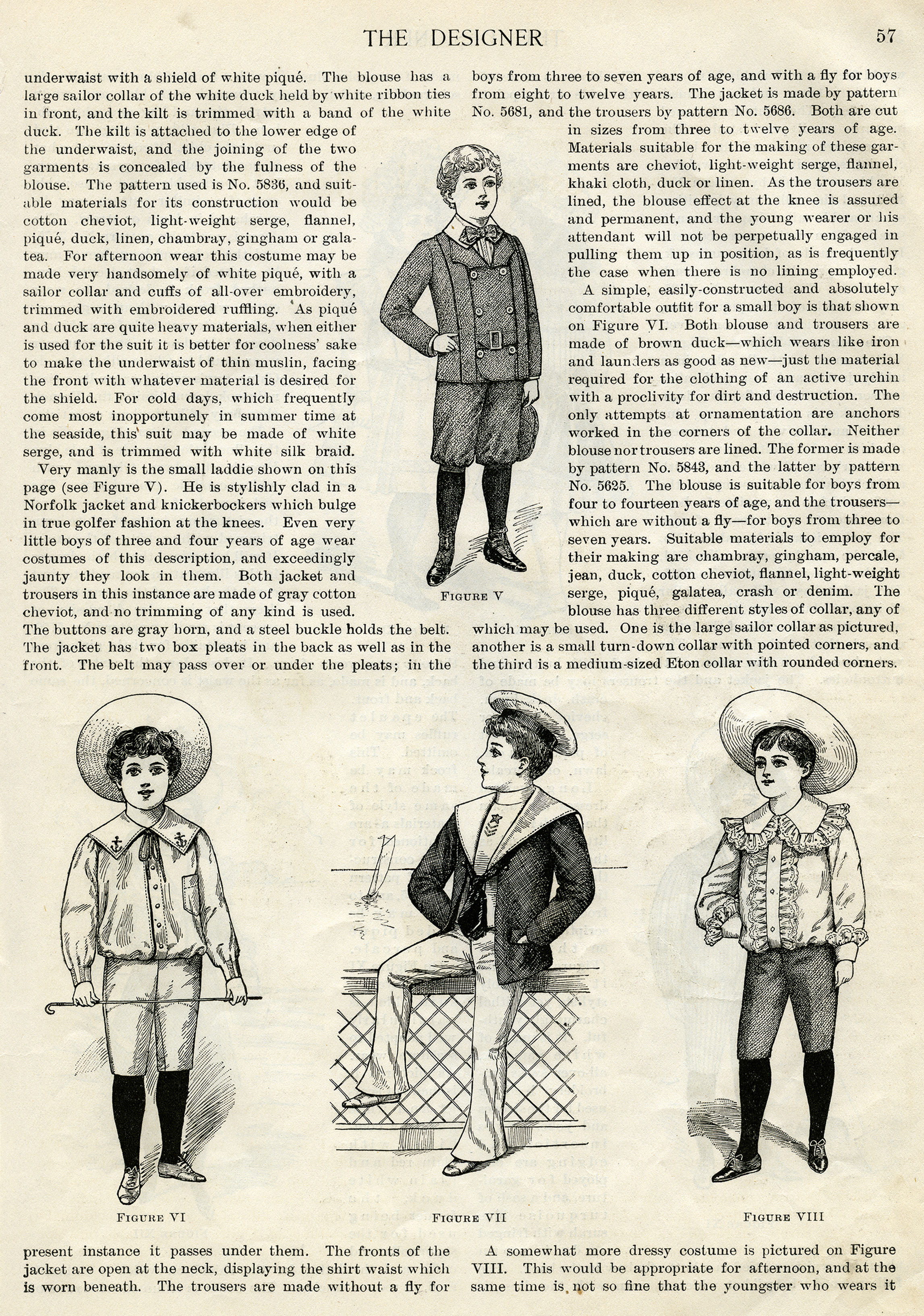 Victorian Boy Summer Fashion 1900 Free Vintage Clip Art Old Design Shop Blog