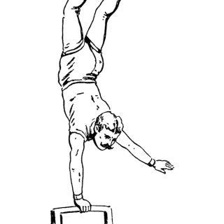 circus acrobat free vintage clip art illustration