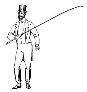 circus ringmaster free vintage clip art illustration