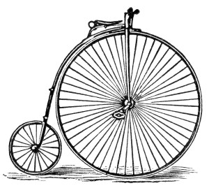 Free vintage clip art image bicycle