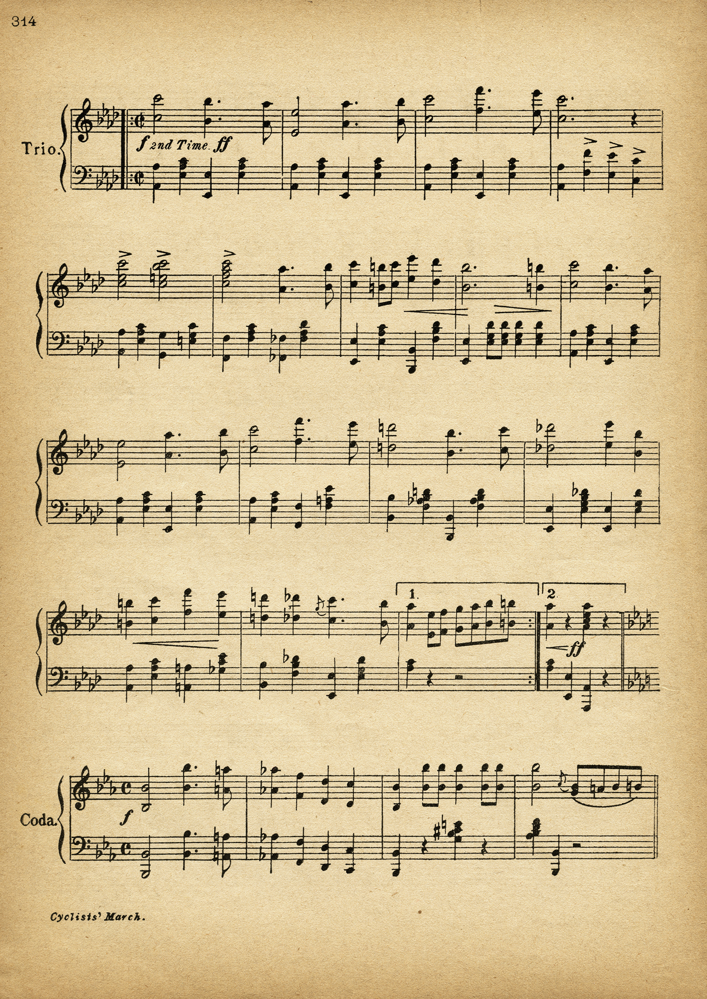 It is an image of Bright Vintage Sheet Music Printable