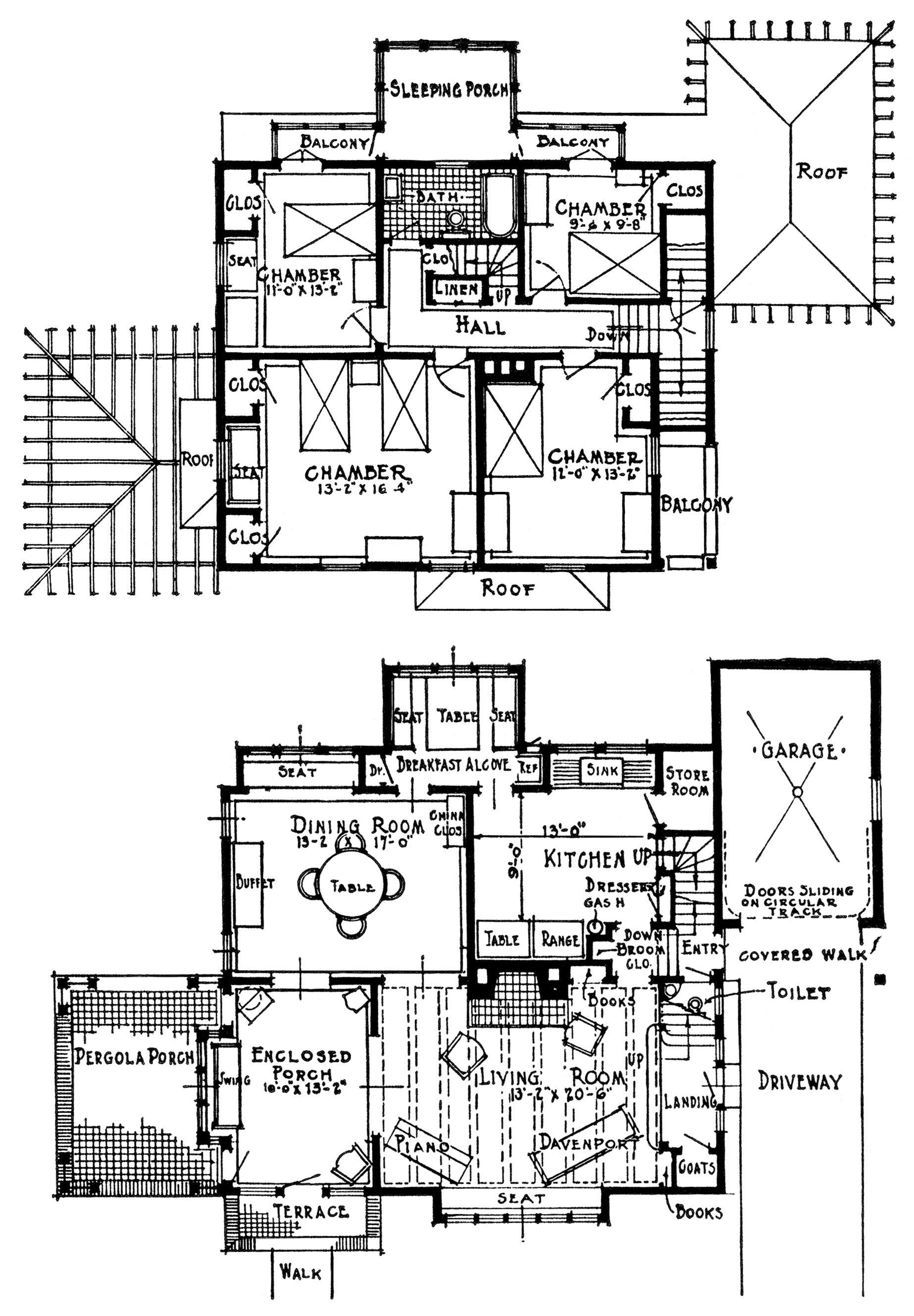 Vintage homes with attached garages old design shop blog for Shop floor plans