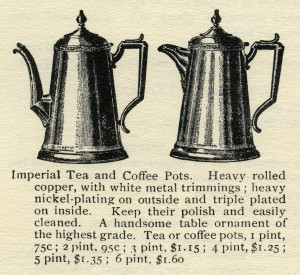 vintage tea pot clip art, coffee pot illustration, old catalogue ad, black and white graphics, vintage kitchen printable