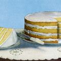 layer cake image, cake printable, vintage food clipart, old fashioned cake, desserts sweets graphics.