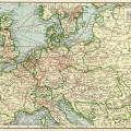 antique map, vintage map image, central Europe map old, history geography Europe, vintage ephemera printable
