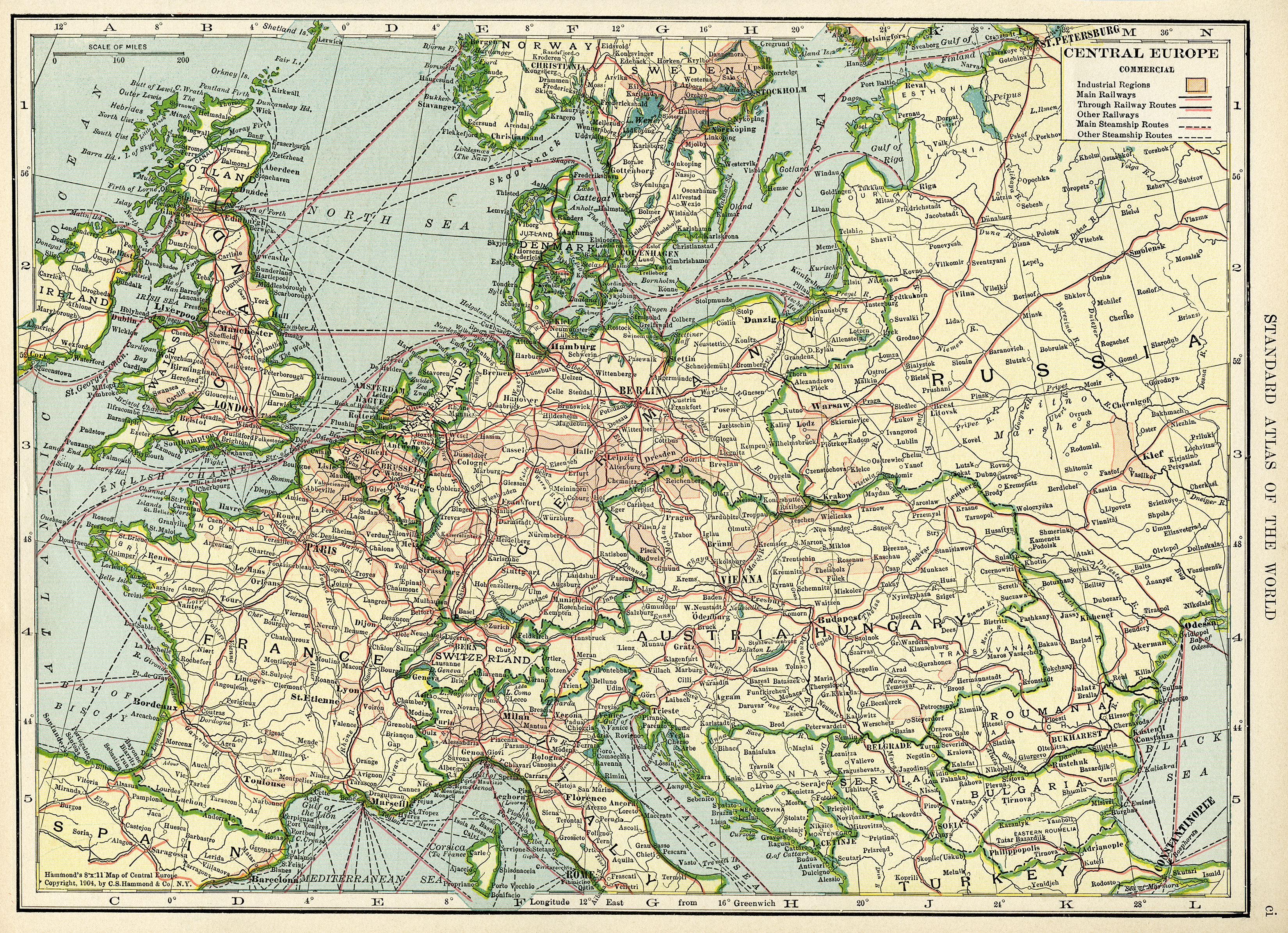image relating to Printable Vintage Maps identify Central Europe Classic Geography Map ~ Totally free Electronic Graphic