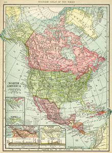 Free printable historical map of north america