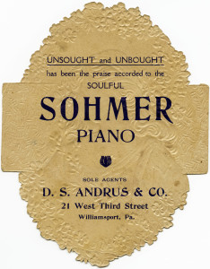 sohmer piano, Victorian trading card, vintage advertising card, Victorian lady clipart, vintage woman ephemera free, antique piano clip art