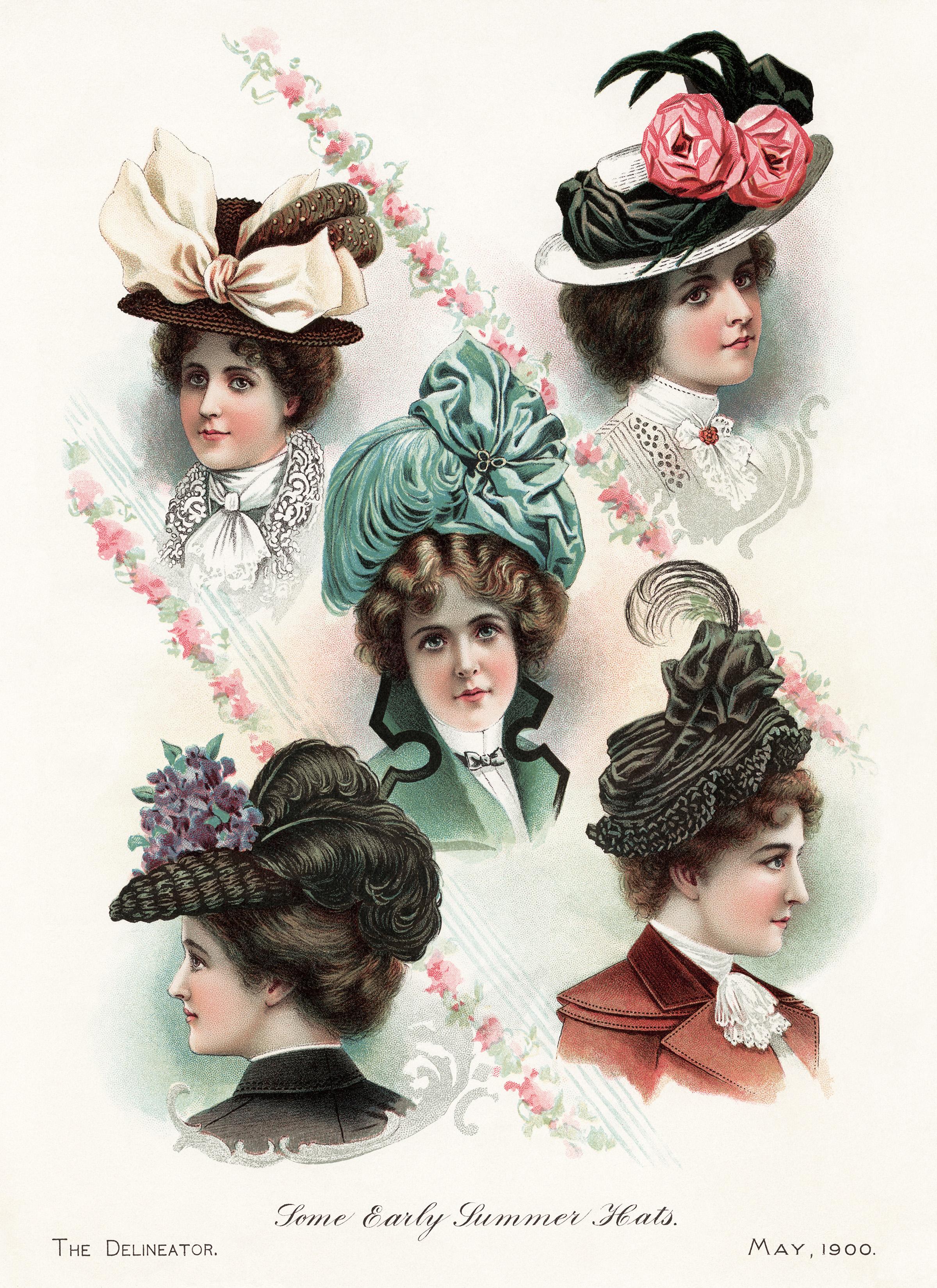 Victorian Ladies Summer Hats