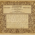steadmans writing lessons booklet, old school printable