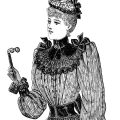 Victorian lady free printable clip art