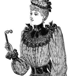 Victorian lady free printable clip art