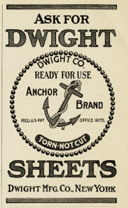 Dwight Mfg Co, vintage magazine ad, anchor clip art, black and white clipart free, vintage anchor image
