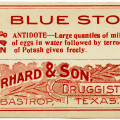 C. Erhard & Son, vintage poison label, Halloween clip art, vintage druggist pharmacy label, blue stone poison