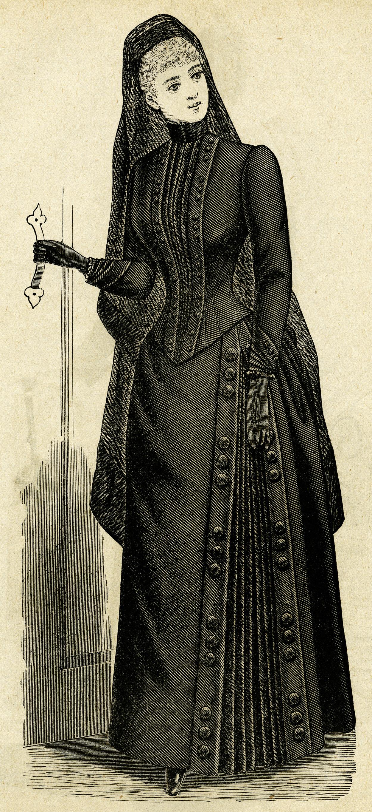 Free Victorian Clip Art Ladies Mourning Costume Old Design Shop Blog