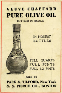 veuve chaffard, French olive oil, vintage food graphics, olive oil clip art, black and white clipart, old magazine ad