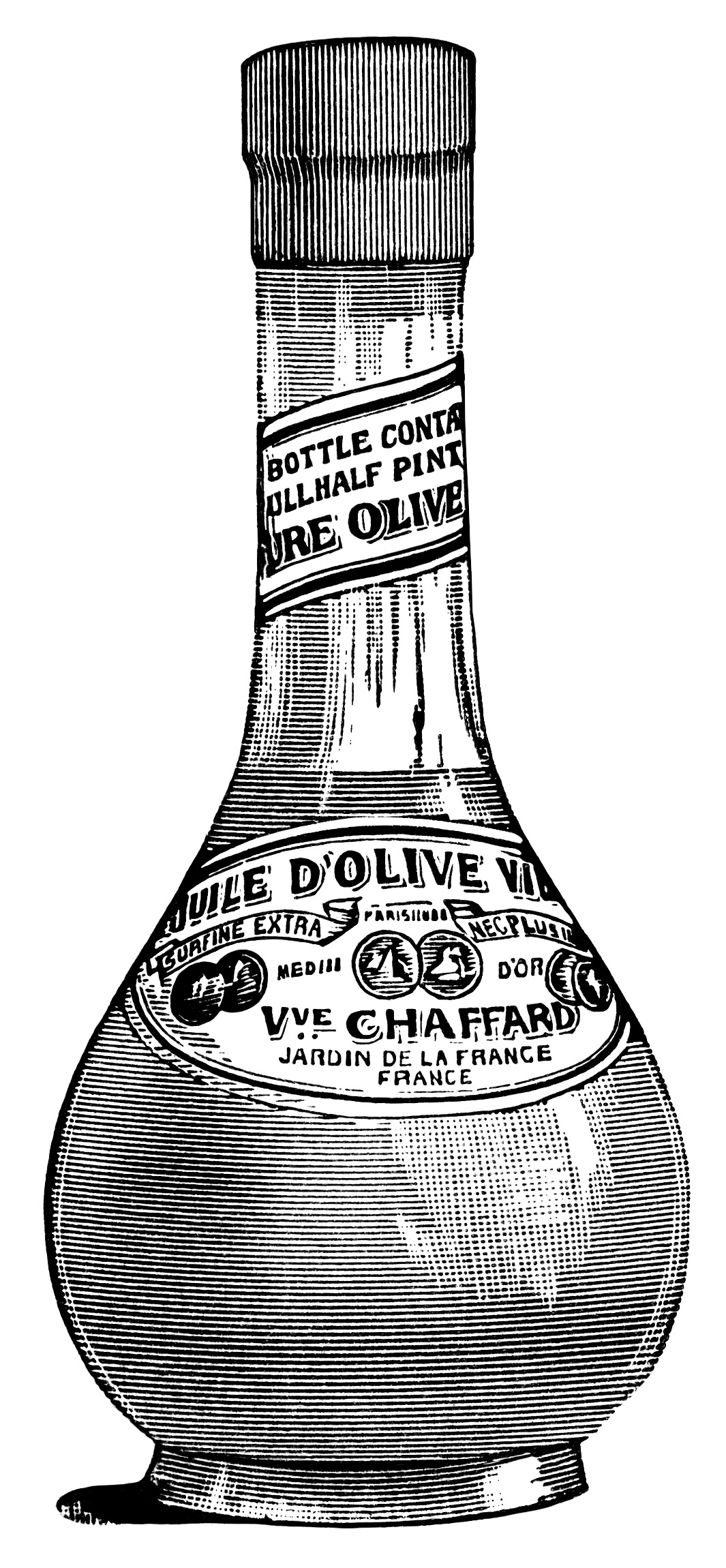 French Olive Oil ~ Free Vintage Clip Art | Old Design Shop ...