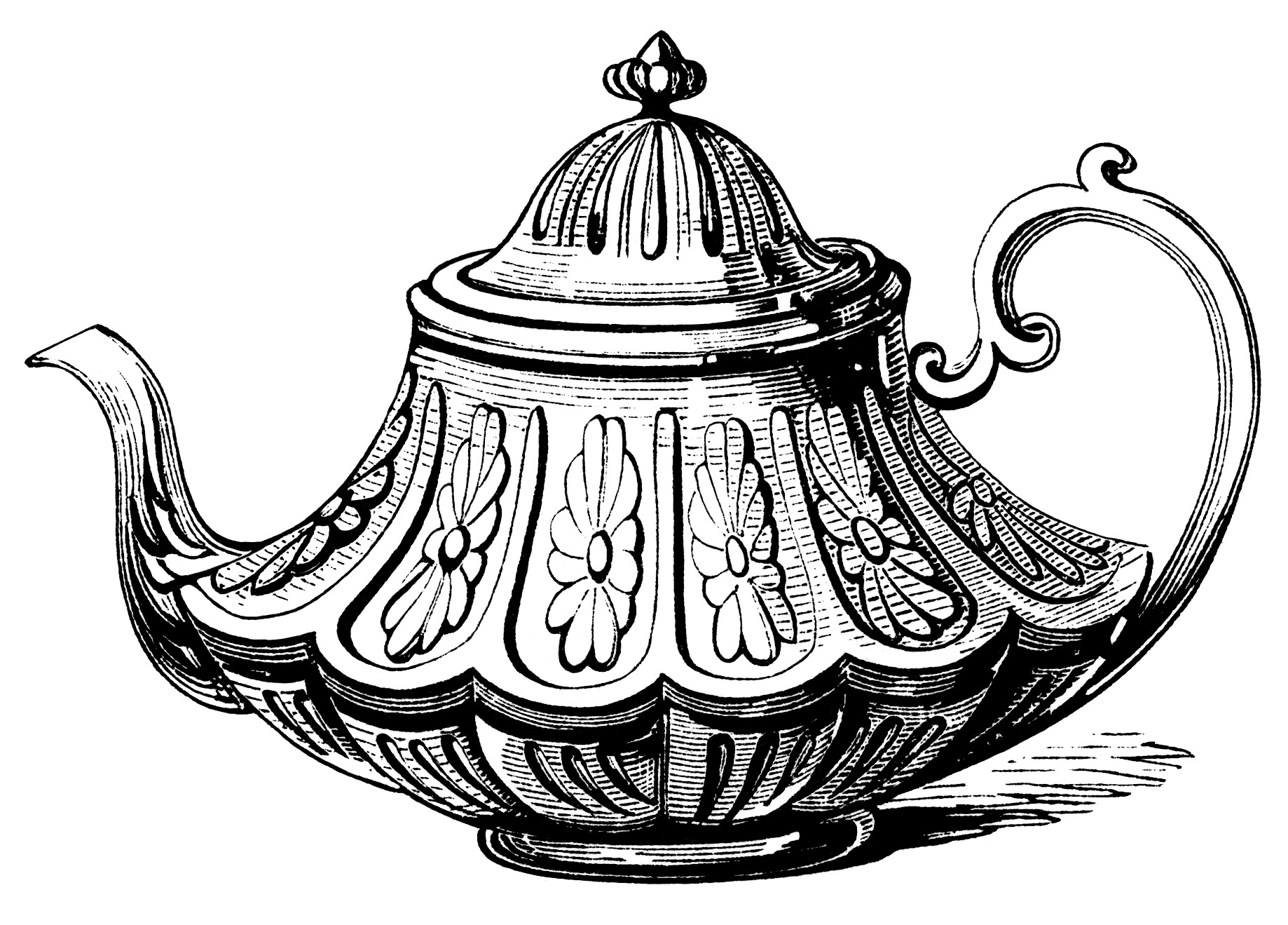 Victorian Tea Pot Free Clip Art Old Design Shop Blog