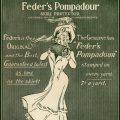 free vintage clip art advertisement Feder's Pompadour Victorian lady