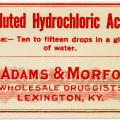 McAdams Morford, vintage poison label, Halloween clip art, vintage druggist pharmacy label, hydrochloric acid label