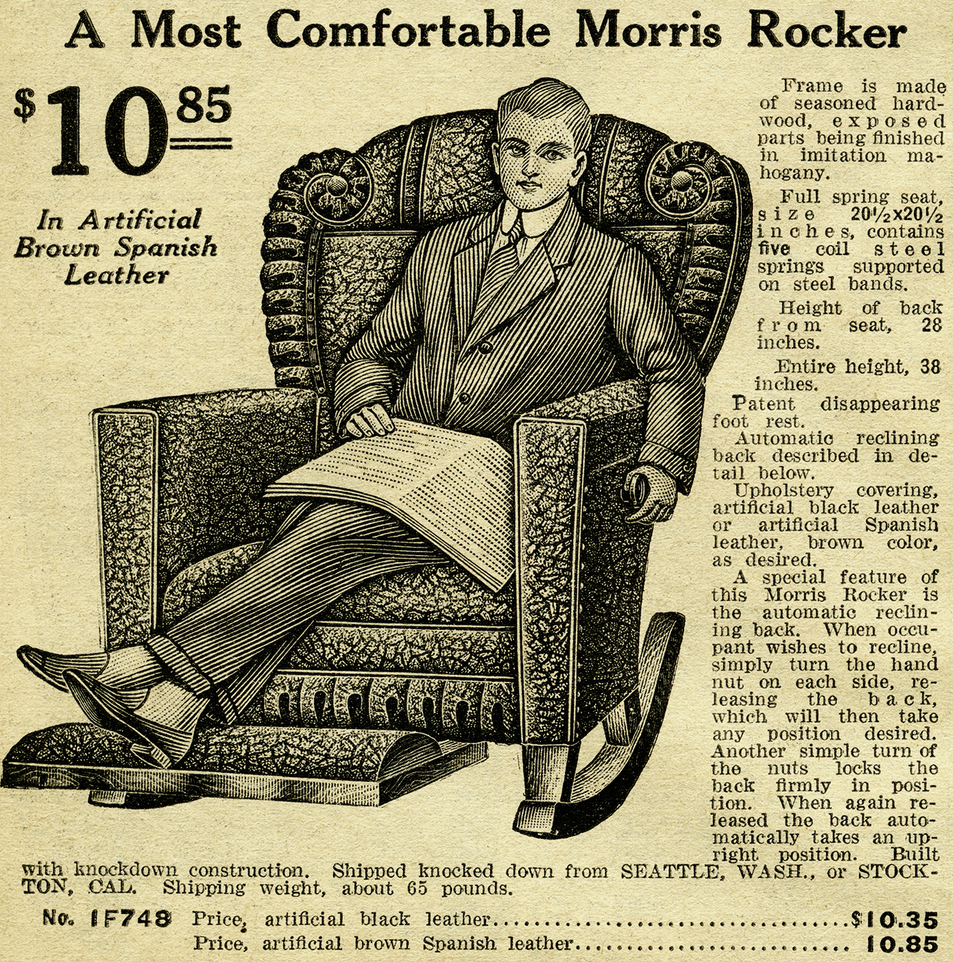 Comfortable Morris Rocker Free Vintage Clip Art Old