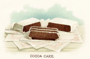 chocolate cake illustration, vintage cake illustration, old fashioned cocoa cake, chocolate dessert clip art, vintage chocolate image