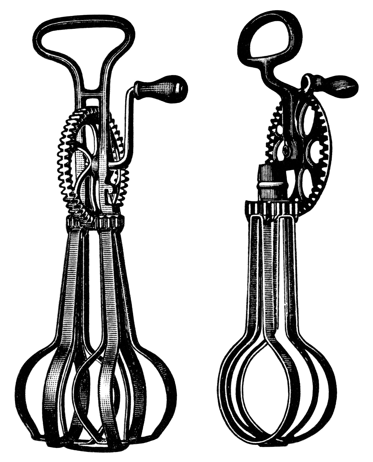 antique food mixer image, free black and white clip art, taplin egg beater illustration, old magazine ad, vintage kitchen clip art