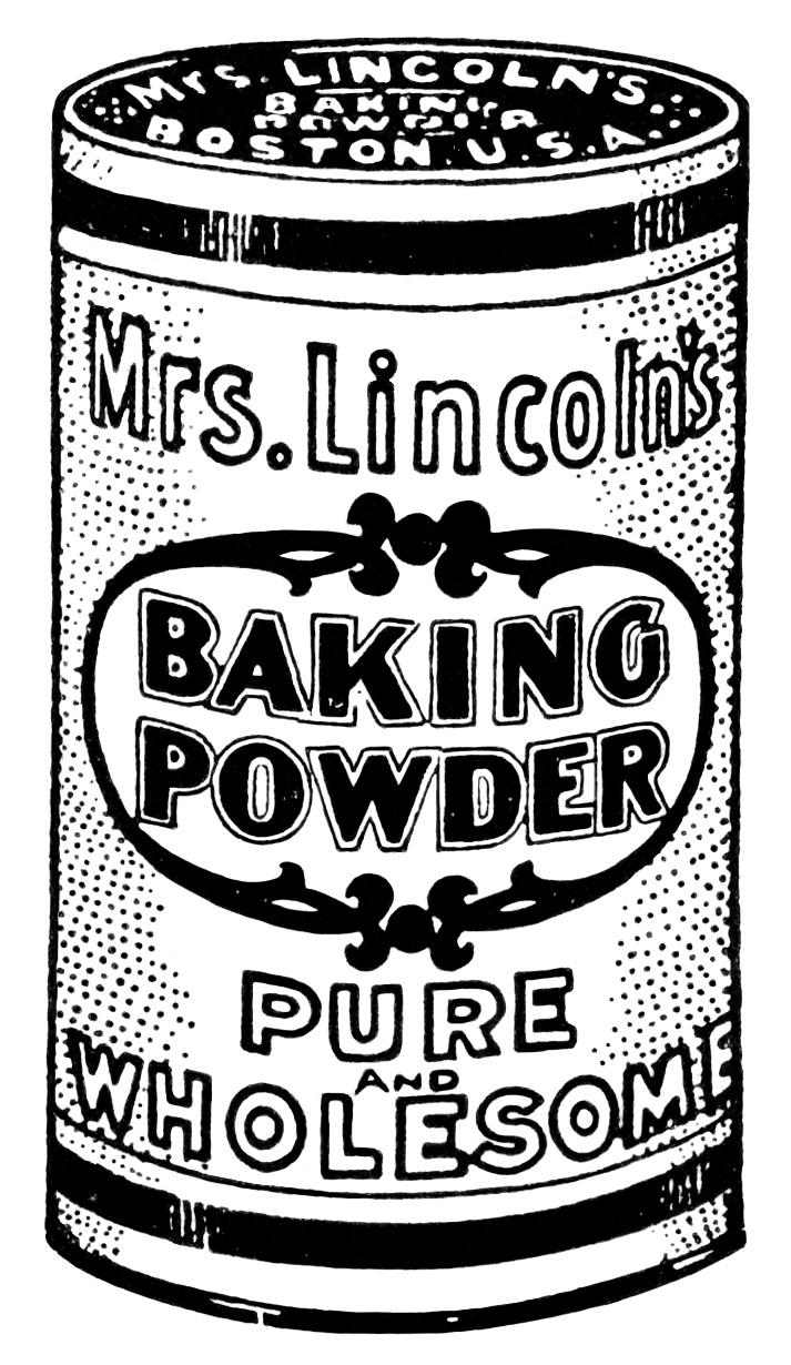 black and white clipart, vintage kitchen clip art, antique magazine ad, baking powder clip art, vintage food graphics