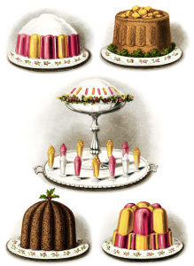 baked goods clipart, vintage baking clip art, Christmas pudding image, old fashioned desserts, printable food graphics