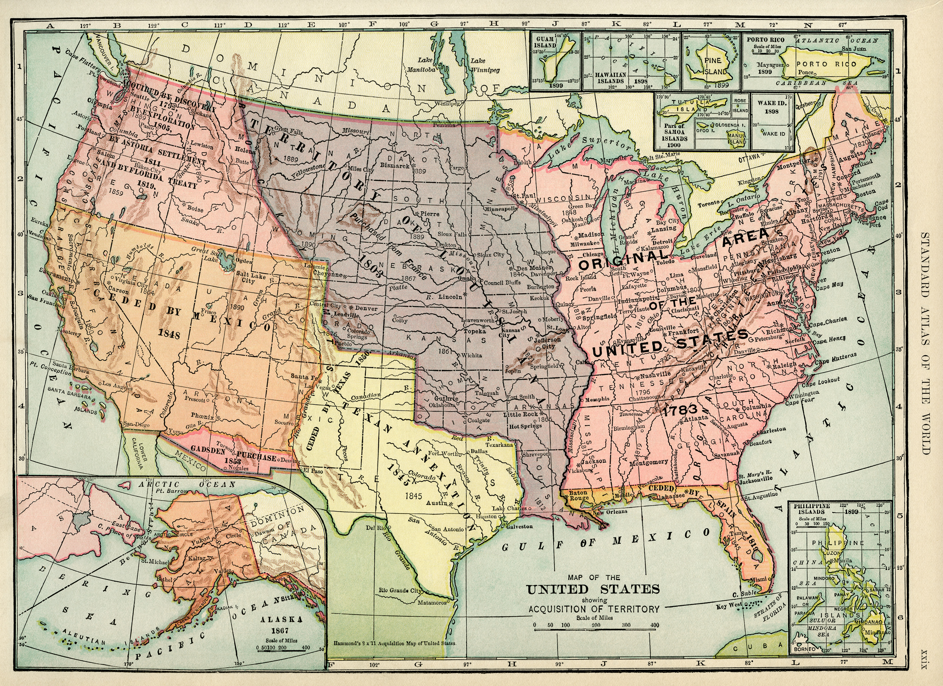 Maps Old Design Shop Blog - Maps of the united states