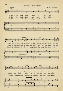 free vintage ephemera,jack frost song,vintage sheet music,aged paper printable,old music page