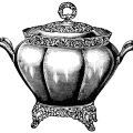black and white graphics free, vintage kitchen clip art, soup tureen illustration, antique soup stew dishware, covered soup serving bowl