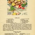 orange tea cakes, Christmas baking clip art, baked goods illustration, vintage kitchen graphics, printable cookbook page, lebkuchen recipe